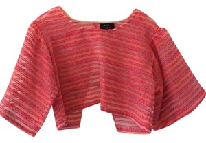 Nasty Gal Sheer Crop Top Hot Pink