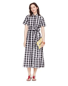 Black and White Maxi Dress by Kate Spade Gingham Spring Summer