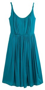 Madewell short dress Teal Draped Pockets on Tradesy