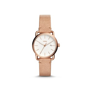 Fossil Fossil Women's THE COMMUTER DATE SAND LEATHER WATCH ES4335