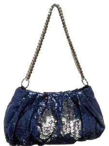 orYANY Purse Chain Sparkly Formal Navy Blue Silver Clutch
