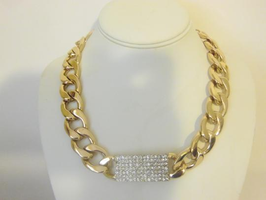 Preload https://item4.tradesy.com/images/rj-graziano-goldtone-pave-oval-chain-link-necklace-2297393-0-7.jpg?width=440&height=440