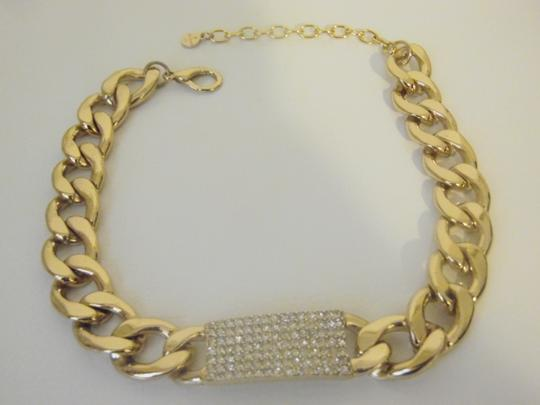 R.J. Graziano R. J. Graciano Pave Oval Chain-Link Necklace