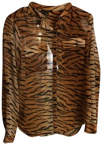 Forever 21 Button Down Shirt tiger