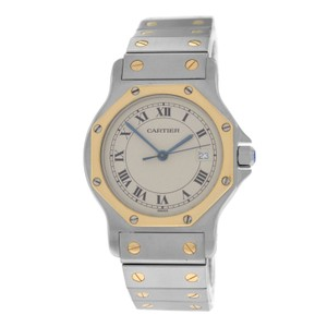 Cartier Ladies Midsize 30MM Cartier Santos Octagon 187902 Quartz Steel Gold