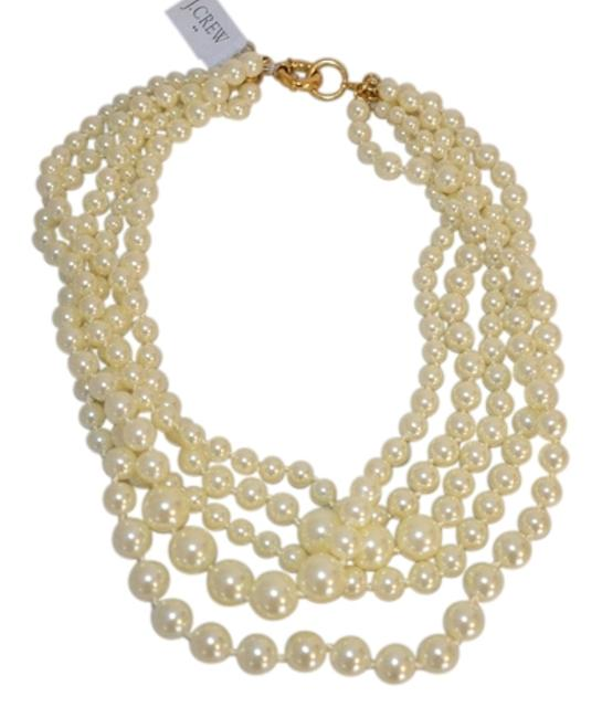Item - Off White W J Crew Multistrand Pearl Dust Bag Necklace