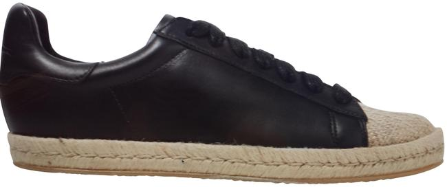 Item - Black Rian Canvas-paneled Leather B Sneakers Size EU 38 (Approx. US 8) Regular (M, B)