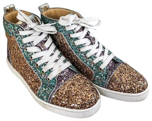 b93d7ee806e4 Christian Louboutin Glitter Orlato High Tops Sneakers Multi-Color Athletic