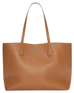Tory Burch Leather Slouchy Summer Tote in Tan