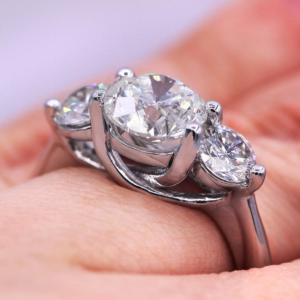 Impressive Diamond with 2.92 Tdw Engagement Ring - Tradesy