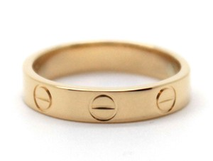 Cartier Yellow 18K gold Love band ring size 48 4mm wide