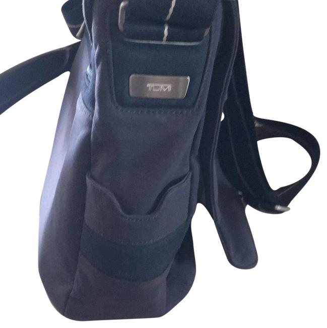 Item - Navy with Navy and White Striped Shoulder Strap Laptop Bag