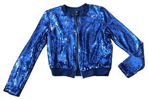 H&M Sparkle blue sequins Jacket