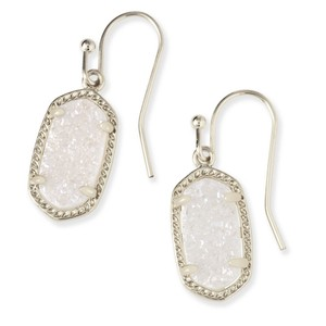 Kendra Scott BRAND NEW Kendra Scott Lee Iridescent Drusy Earrings SILVER