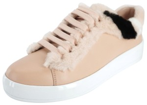 Prada Trainer Sneaker Womens 8021905 Fur Pink Athletic