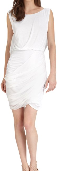 Item - White Boatneck Mid-length Night Out Dress Size 6 (S)