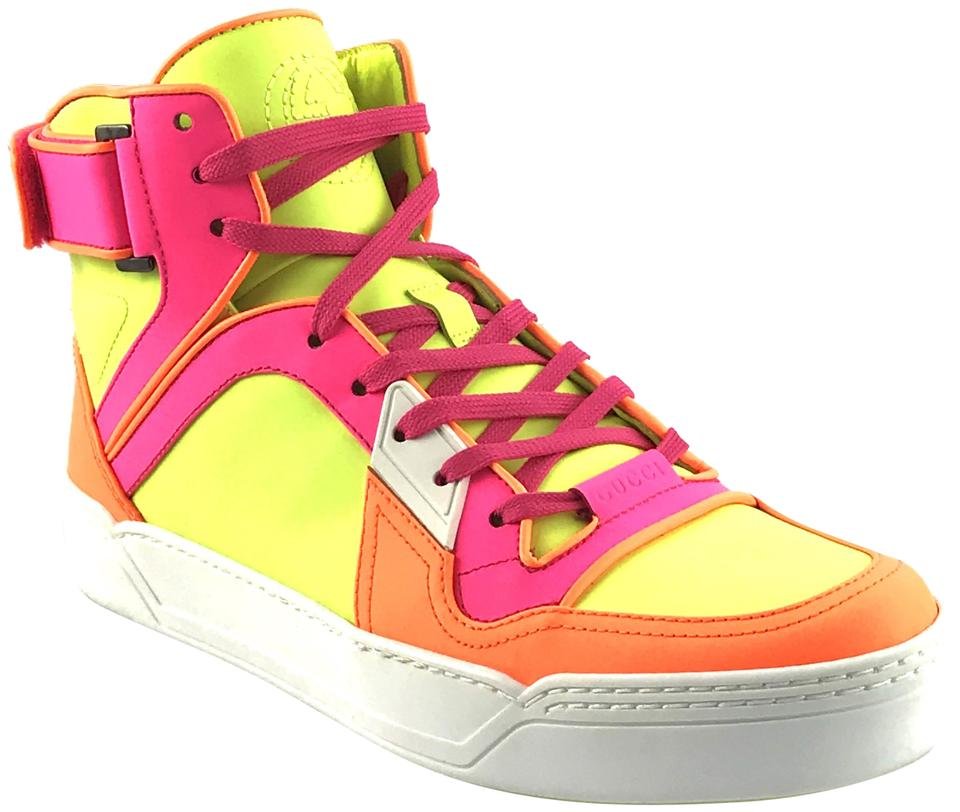 4f3eae8ed65 Gucci Neon Leather High Tops Sneakers Sneakers Size EU 40 (Approx ...