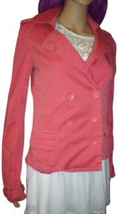 Abercrombie & Fitch Fitted Blazer Belt Loops Pink Jacket