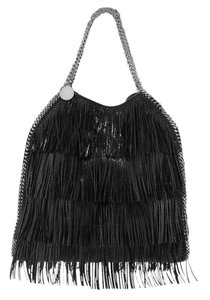 Stella McCartney Falabella Fringe Falabella Fringe Shoulderbag Hobo Tote in Black