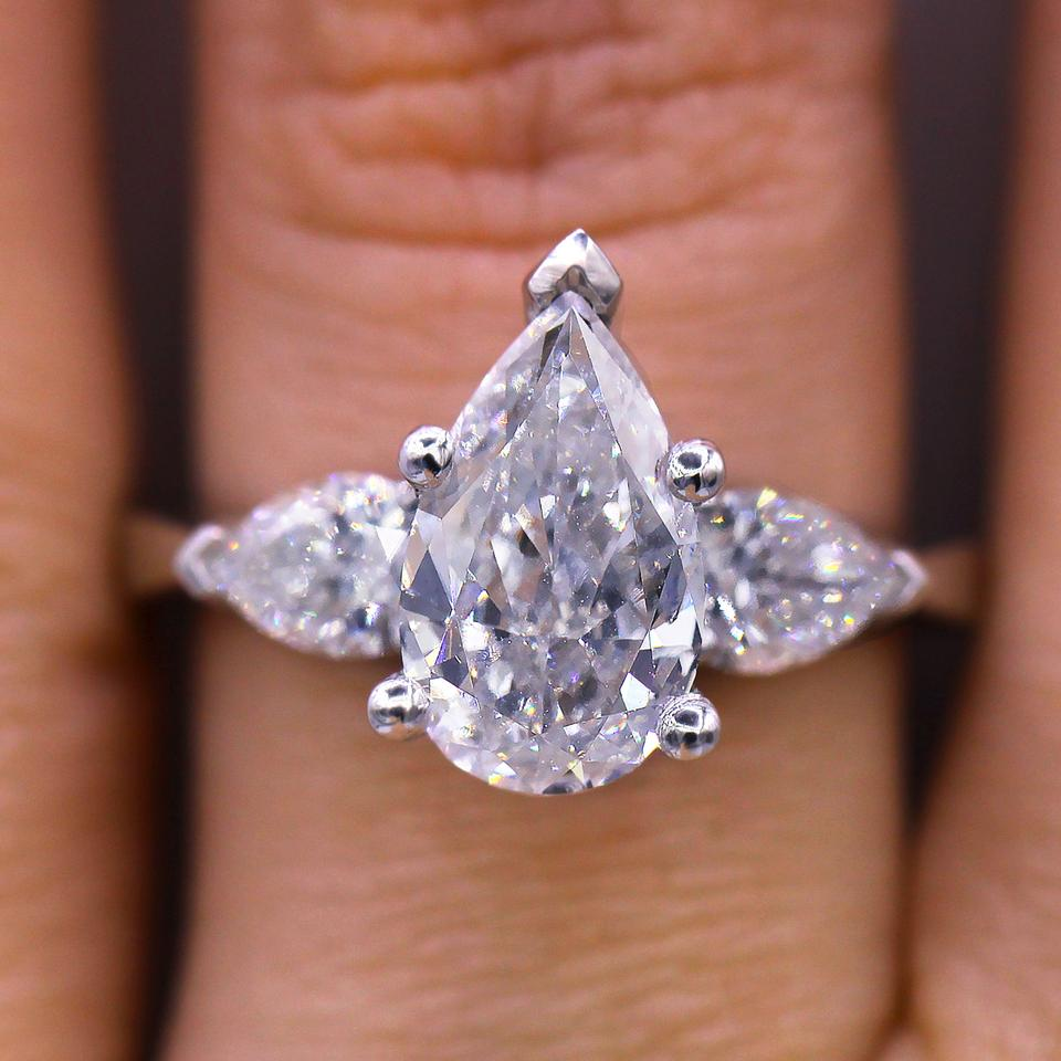 d0ad37d6f677 Unique Pear Shaped Diamond Engagement Ring Image 0 ...