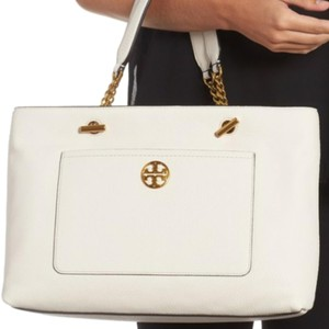 Tory Burch Satchel in Tory Burch Chelsea Soft Leather Satchel Ivory