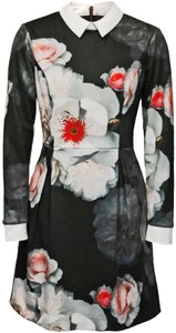 Ted Baker Floral Collar Longsleeve Kaleesa Chelsea Flower Dress
