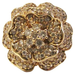 "Suzanne Somers Suzanne Somers ""Flower In Bloom"" CZ Flower Ring Size 8"