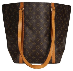 Louis Vuitton Monogram Canvas Leather Vintage Neverfull Tote in Brown