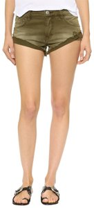 Free People Cut Off Shorts army green