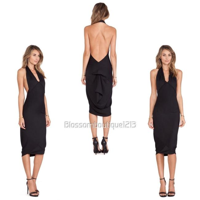 Item - Black Strokin In Shadow Mid-length Night Out Dress Size 4 (S)