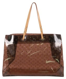 Louis Vuitton Vinyl Tote in Brown
