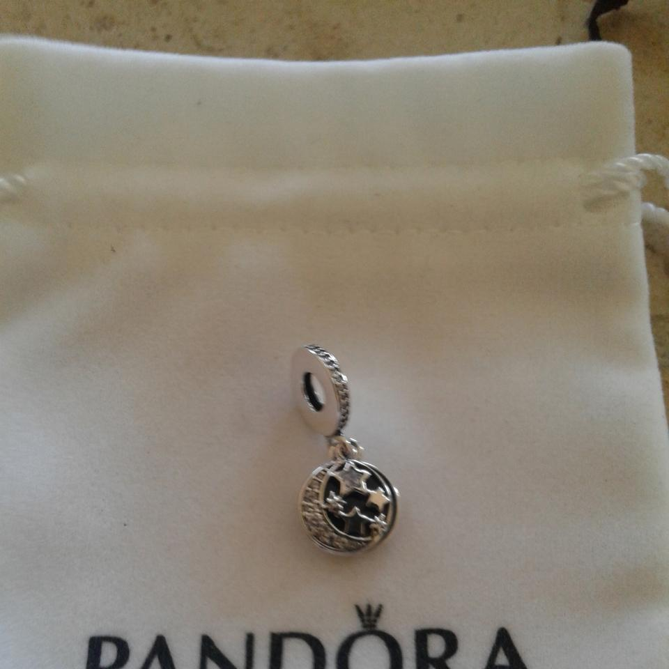 fa7ee07e9 PANDORA Blue & Silver Vintage Night Sky Dangle Charm - Tradesy