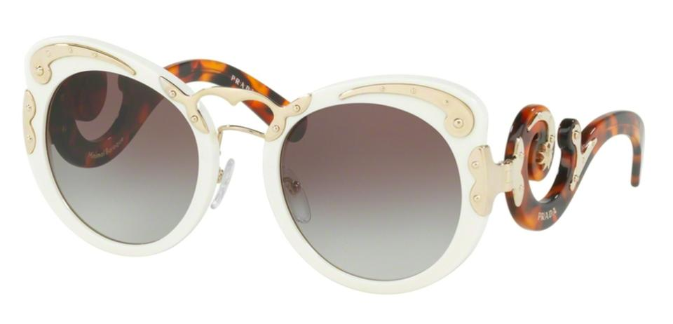 c5538856708 Prada White   Tortoise Shell   Gold   Gray Gradient Lens Free 3 Day  Shipping Spr 07t Vag0a7 New Oversized Butterfly Baroque Sunglasses