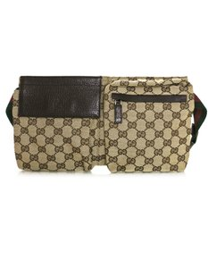Gucci Monogram Fanny Pack Belt beige Travel Bag