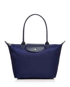 Longchamp Tote in Navy/Silver
