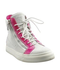 Giuseppe Zanotti Sneakers Suedexpatent Leather CreamxPink Boots