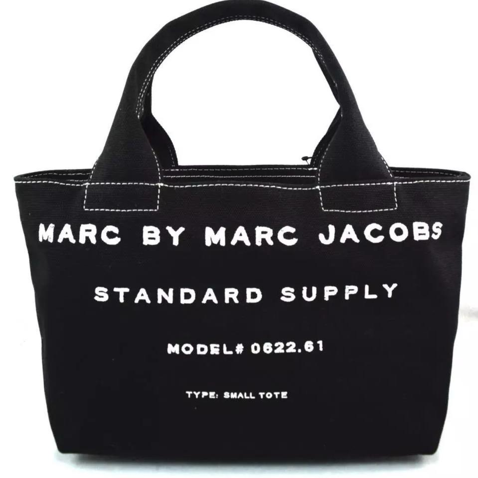 56d5cc59d990 Marc by Marc Jacobs Canvas Small Standard Supply Tote in Black Image 0 ...