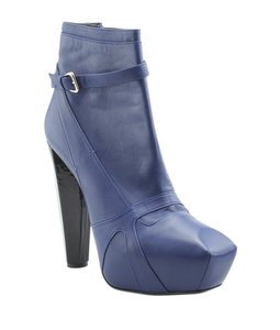 Versace Ankle Leather Blue Boots