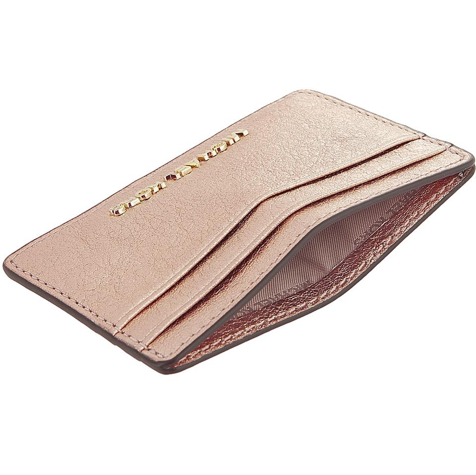 6508445840b9 Michael Kors Money Pieces Rose Gold Leather Boxed Card Case Mini Wallet NWT  Image 4. 12345