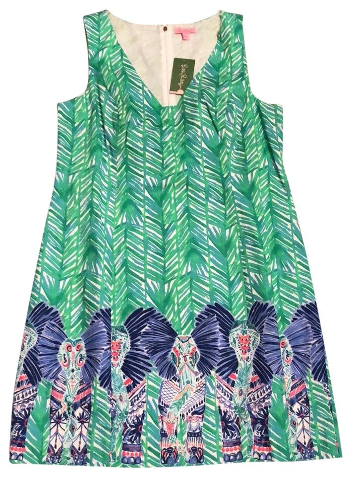 Lilly Pulitzer Toucan Green Costa Verde Tandie Mid Length Work