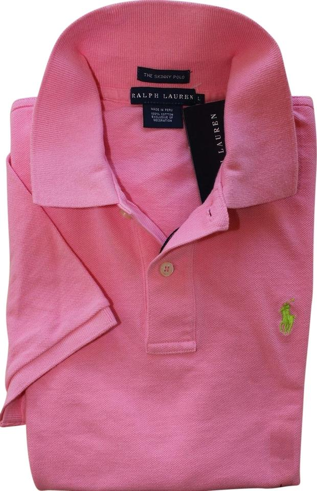 50041b97 Ralph Lauren Cruise Pink Skinny Polo Button-down Top. Size: 14 (L) ...