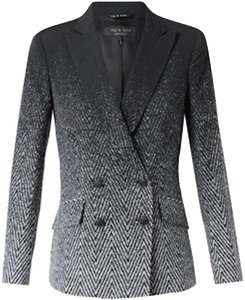 Rag & Bone Classic Modern Speckled Ombre / Black and white Blazer