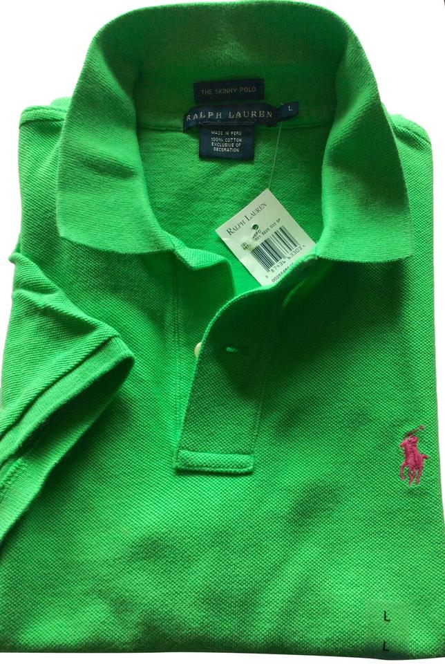 7fae44ff6 Ralph Lauren Motor Green Skinny Polo Button-down Top Size 14 (L ...