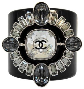 Chanel Chanel Black Resin CC Cuff Bracelet NEW
