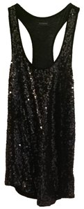 Express Sequins Tback Top Black