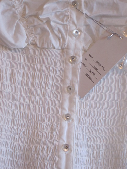 Ali & Kris Puffy Form Fitting Top white