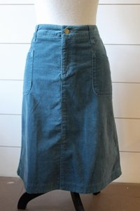 Pure Collection A-line Velour Skirt Dusty Blue