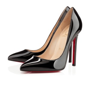 Christian Louboutin Patent Leather Pointed Toe Classic Date Night Black Pumps