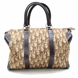 Dior Speedy Duffle Boston Doctors Satchel in Brown