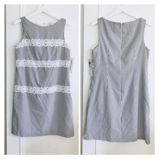 Item - Gray/White Stripe Short Casual Dress Size 10 (M)